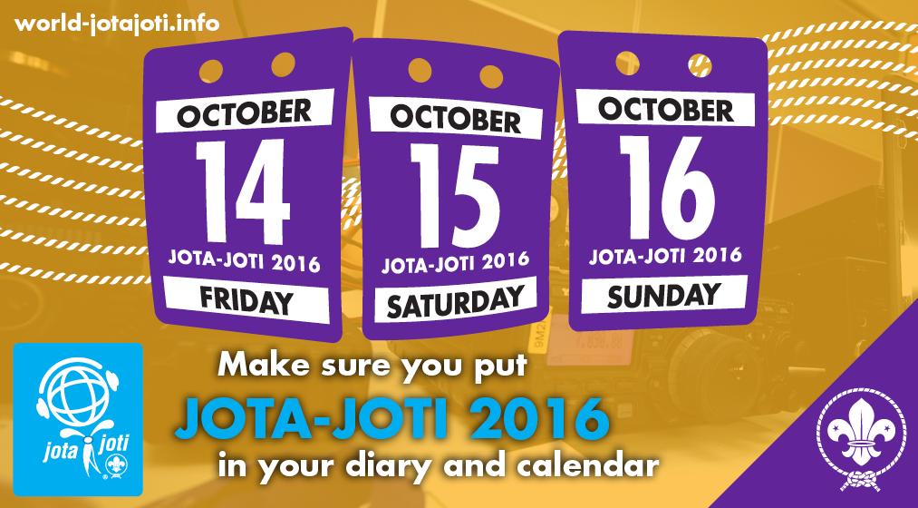 JOTA-JOTI datoer for 2016